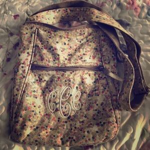 "Floral crossbody with initials ""CCC"""